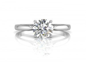 18ct White Gold Single Stone Engagement Diamond Ring D VS 0.80 Carats