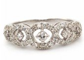 18ct White Gold Half Eternity Diamond Ring 0.57 Carats