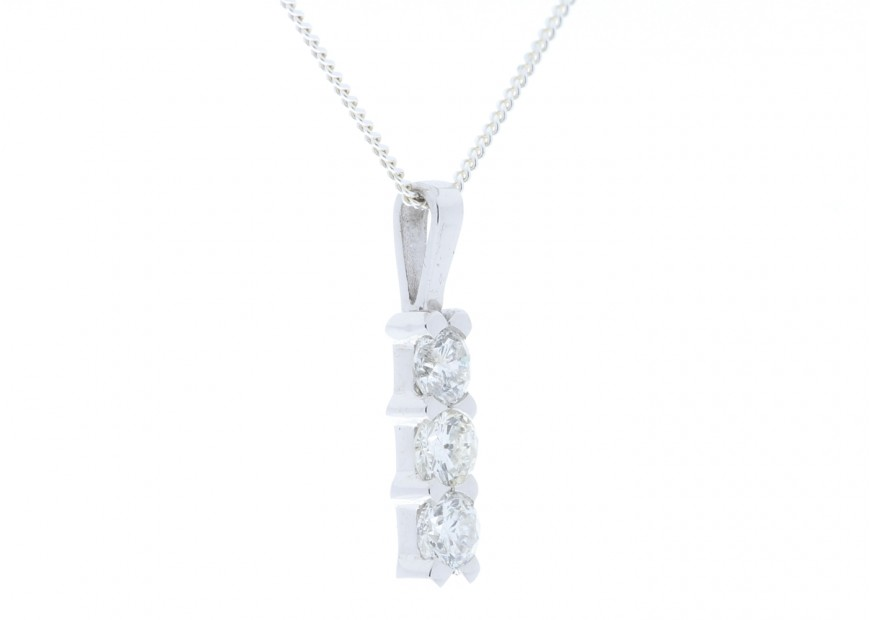 18ct white gold diamond trilogy pendant 048 carats precious 18ct white gold diamond trilogy pendant 048 carats audiocablefo