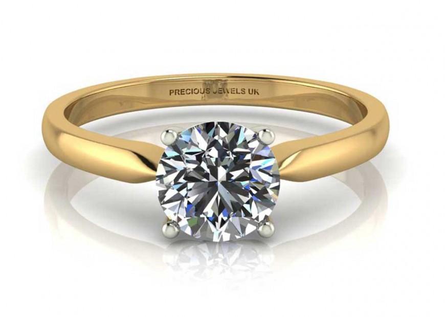 18ct White Gold Single Stone Diamond Engagement Ring J Si 0 70 Carats Precious Jewels Uk Www Preciousjewelsuk Com