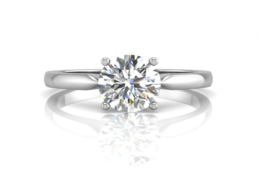 18ct White Gold Single Stone Diamond Engagement Ring H Vs 0 30 Carats Precious Jewels Uk Www Preciousjewelsuk Com