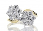 18ct Yellow Gold Flower Cluster Diamond Ring 2.00 Carats