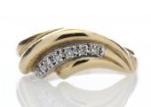 9ct Ladies Dress Diamond Ring 0.06 Carats