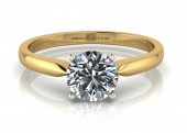 18ct Yellow Gold Single Stone Diamond Engagement Ring D SI 0.30 Carats