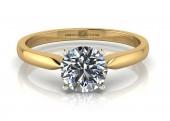 18ct Yellow Gold Single Stone Diamond Engagement Ring F SI 0.40 Carats