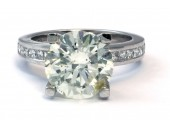 18ct White Gold Single Stone Diamond Engagement Ring J SI3 5.02 Carats